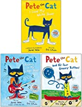 The Pete the Cat Series 3 Books Collection Set By Eric Litwin (Pete the Cat I Love My White Shoes, Pete the Cat Rocking in...