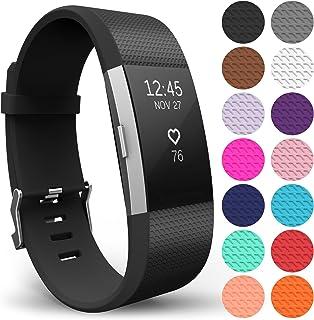 Yousave Accessories® Correa Fitbit Charge2, Pulsera Deportiva de Silicona de Repuesto para Fitbit Charge 2 - Disponible en 15 Colores