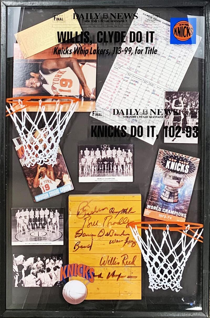 1970-1973 Today's only Limited time trial price NY Knicks Signed MSG Piece Auto Disp Used Floor