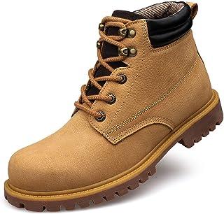 NAGT Chaussures d'extérieur en Cuir résistant à l'eau Botte décontractée pour Hommes Femmes, Bottines de randonnée antidér...