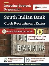 South Indian Bank Clerk Exam 2021 10 Full-length Mock Tests (Solved) Preparation Kit By EduGorilla