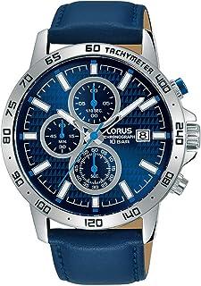 Lorus Sports Chronograph Leather Strap Men's Watch RM307GX9