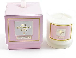 (ヘヴン?センズ) Heaven Sends 'No. 1 Birthday Girl' キャンドル ろうそく (ワンサイズ) (ホワイト/ピンク)