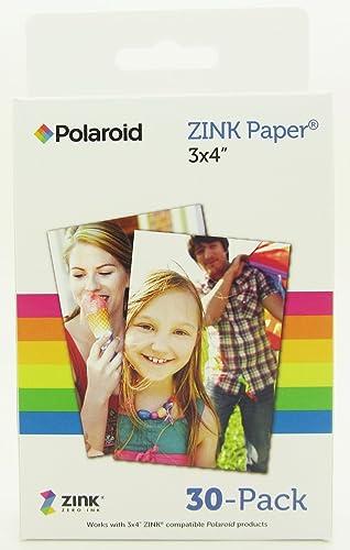 """lowest Polaroid 3x4"""" Instant online sale Film / 2021 ZINK Paper for Z340 Camera (30 Color Prints) sale"""