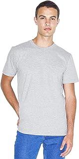 American Apparel Men's Fine Jersey Crewneck Pocket Short Sleeve T-Shirt