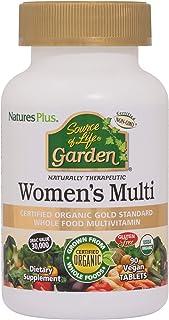 NaturesPlus Source of Life Garden Organic Women's Multivitamin - Pure, Natural Whole Food Ingredients - 90 Vegan Tablets (...