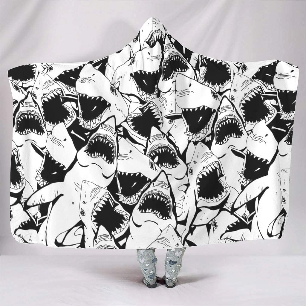 Loveyoudaily Hooded Challenge the lowest price of Ranking TOP12 Japan ☆ Blanket Angry Shark Ho Wearable Warm