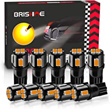 BRISHINE 194 LED Bulbs Extremely Bright Amber Yellow 5630 Chipsets 168 2825 175 T10 W5W LED Replacement Bulbs for Car Inte...