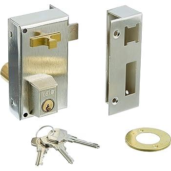 Yale 56AR60DHN - Cerradura de sobreponer estándar para puertas niquelado (entrada 35 mm derecha 56-a cilindro redondo): Amazon.es: Bricolaje y herramientas
