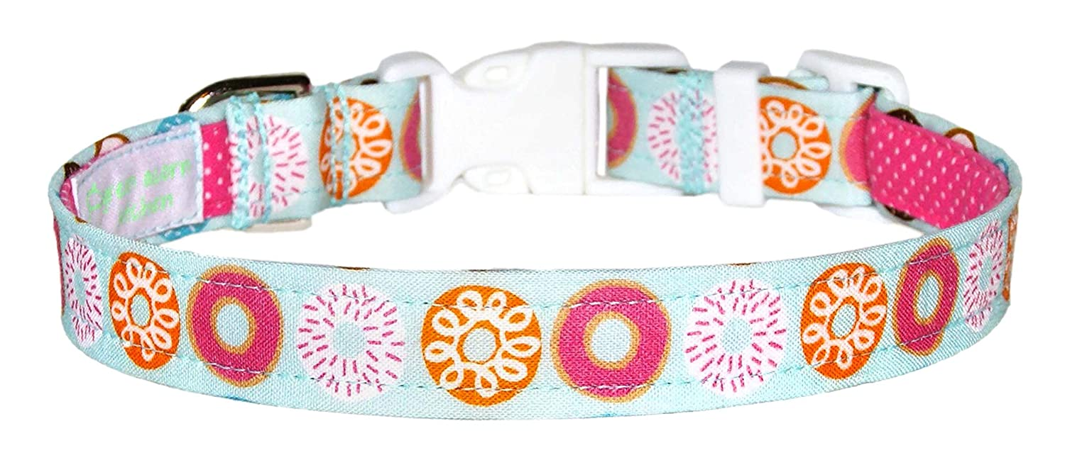 Pink Donuts Dog Collar - Orange 100 Doughnuts With Blue Limited Austin Mall price sale