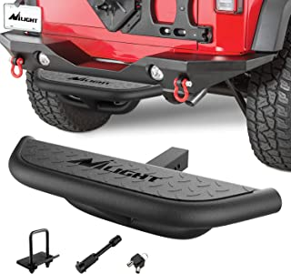 """Nilight Hitch Step with 2"""" Hitch Receiver Rear Bumper Guard Protector Compatible with Car Truck Vehicles Upgraded Textured..."""