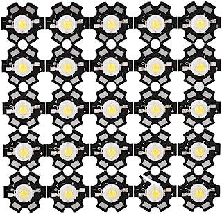 Riuty Chip 25PCS LED, Chip LED ad Alta Potenza- 3W Alta Sorgente Luminosa Chip Integrata Sorgente Bead Faretto LED Lampadina per Lampadina Lampada Perline Illuminazione Fai da Te(6000-6500K)