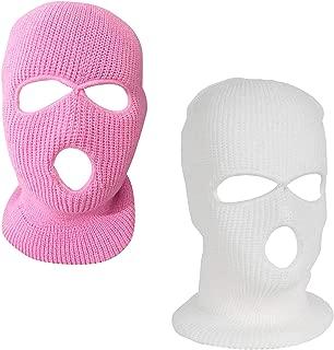 SunTrade 3-Hole Full Face Cover Ski Mask,Ski Face Mask Balaclava for Winter Outdoor Sports,Set of 2