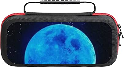 $22 » Blue Moon Game Bag Switch Travel Carrying Case for Personalized Design Switch Lite Console and Accessories, Shell Protecti...