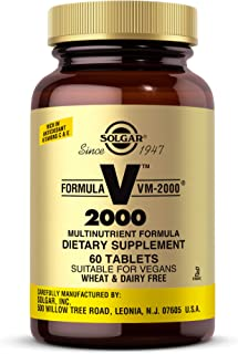 Solgar Formula VM-2000 (Multinutrient System), 60 Tablets - Premium Quality Multiple - Contains Zinc - Supports A Healthy ...