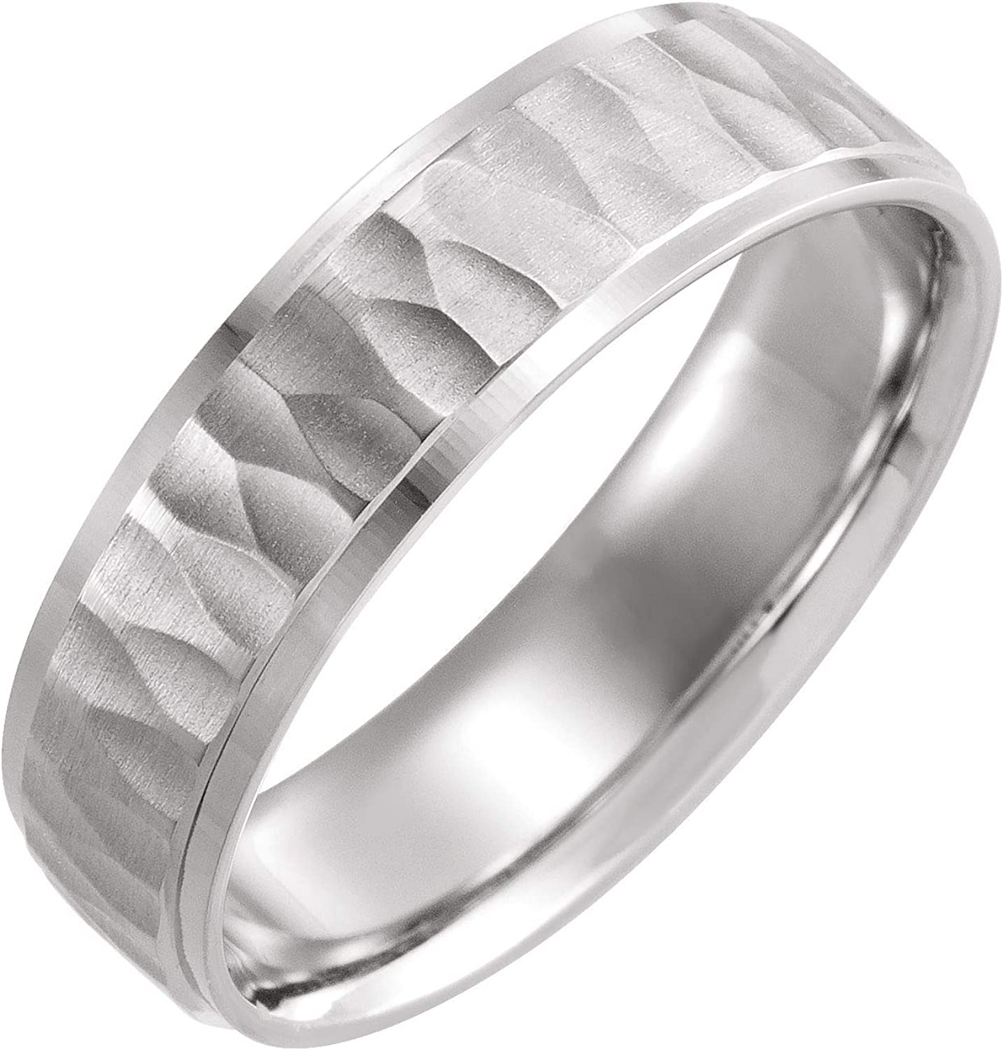 Diamond2Deal 14K Raleigh Mall White Comfort-Fit Wedding for Band w Wholesale Women Ring