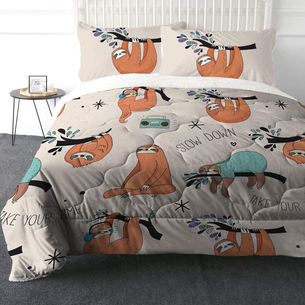 ARIGHTEX trust Super Soft Sherpa Comforter Lightweight Set Fuz excellence Bed 3D