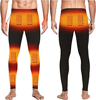 Yokbeer Heated Underwear Men, Thermal Underwear Men Fast Heat USB Interface, Heated Pants Men For Outdoor Workers