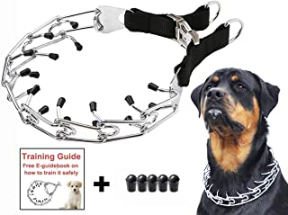 Mayerzon Dog Prong Training Collar, Stainless Steel Choke Pinch Dog Collar with Comfort Tips