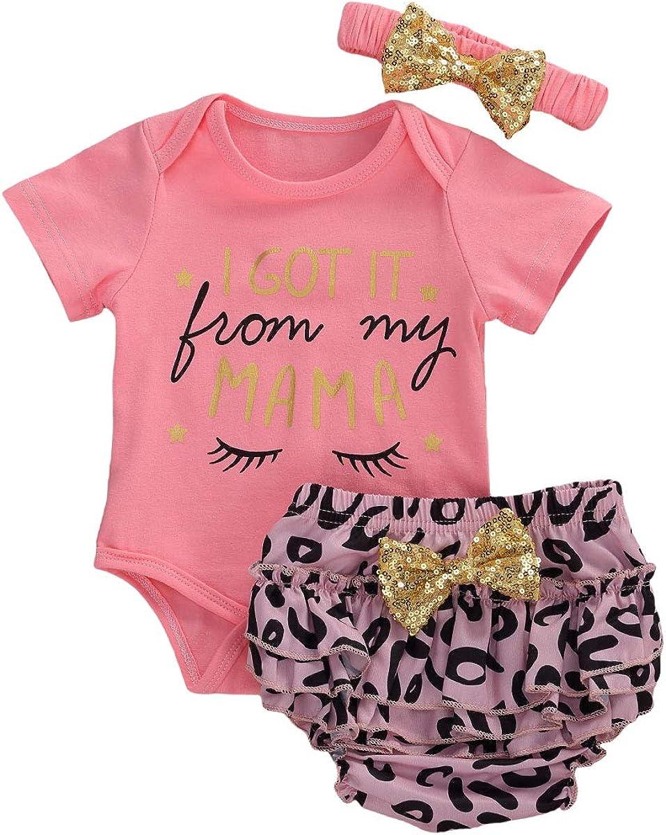 Toddler Baby Girls Summer Omaha Mall Cheap bargain Clothes Sleeveless Bodysu Leopard Sets