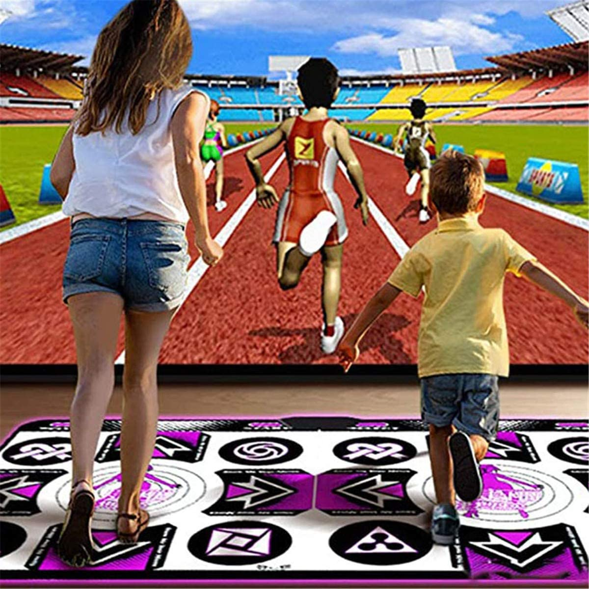 Dance Game for Kids Boys /& Girls Dance Mat Pad for PC TV Household Game,Yoga,Dance,Fitness Body Building Multi-Function Games And Levels Dancing Mat-English Version,Single m Single Person Dance Mat