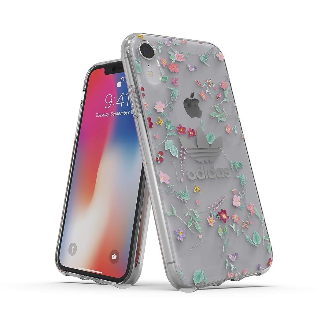 まだら居間外交官【アディダス公式ライセンスショップ】アディダスオリジナルス iPhone XR ケース フローラルFW18 [adidas OR Clear Case Graphic AOP FW18 for iPhone XR Colourful]