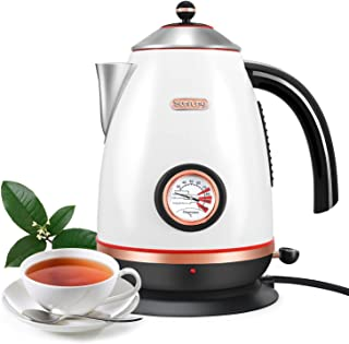 Electric Temperature Kettle, 1.7L Stainless Steel Coffee Tea Hot Water Kettle, Fast Boil,Boil-Dry Protection,BPA Free and ...