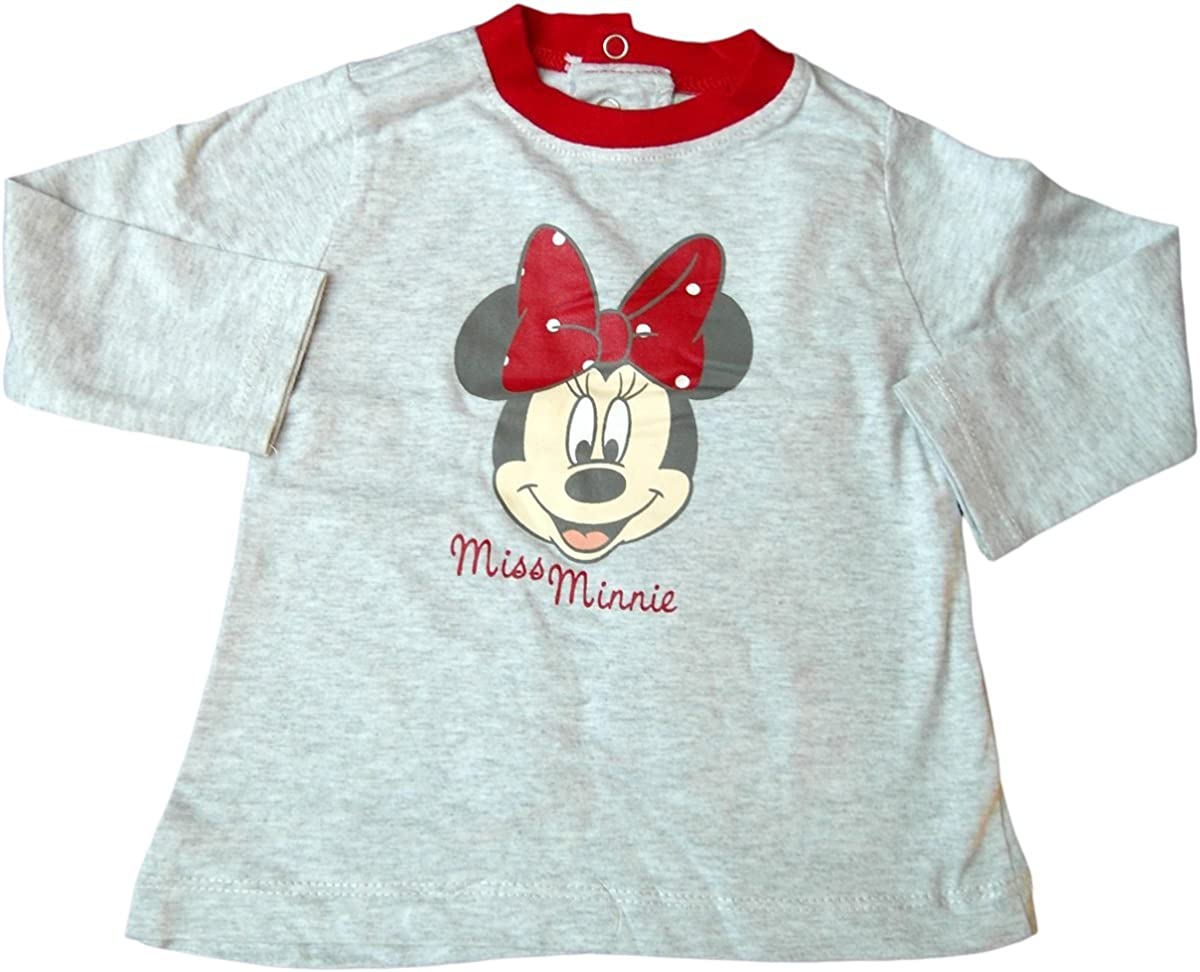 Grau Disney Minnie Maus Baby Langarmshirt Smiling Minnie Mouse