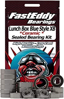 Tamiya Lunch Box Blue Style XB (CW-01) Ceramic Rubber Sealed Ball Bearing Kit for RC Cars