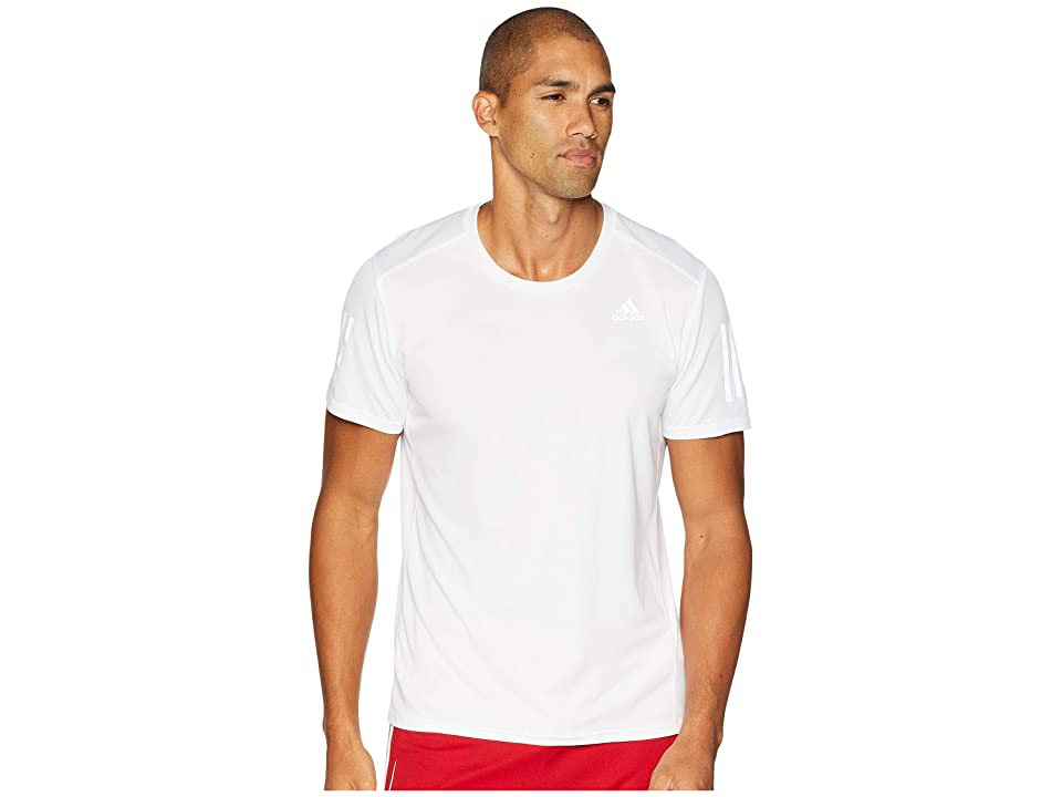 adidas Response Short Sleeve Tee (White) Men