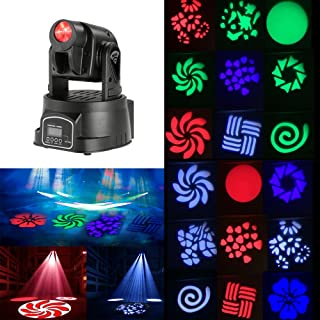 Docooler 50W Moving Head Light Auto Rotating DMX512 5/13 Channels Sound Control RGB Color