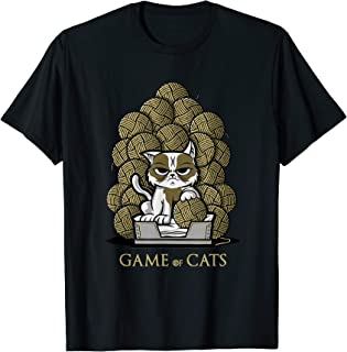 Game Of Cats - Balls of wool throne T-Shirt