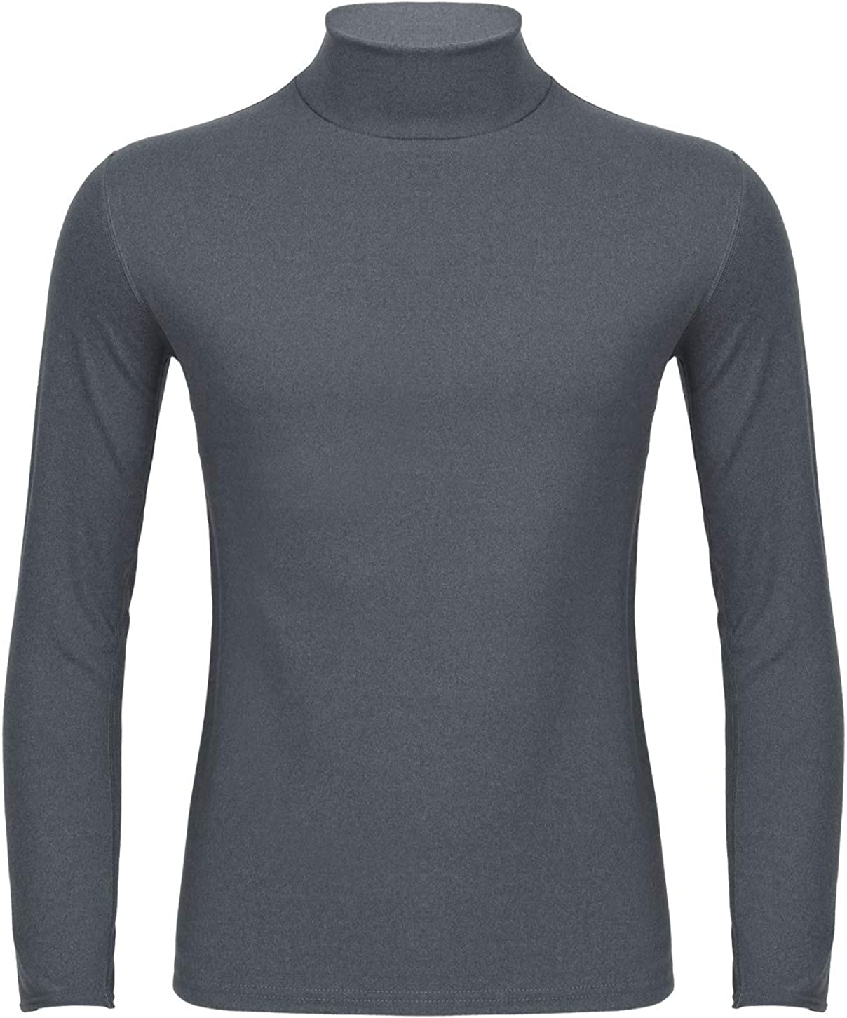 Freebily Thermal Underwear Tops for Men Turtleneck Long Sleeve Knitted Pullover Sim Fit Undershirt T-Shirt