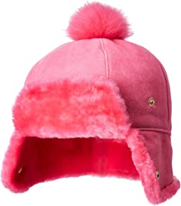 Water Resistant Sheepskin Pom Hat (Toddler/Little Kids)
