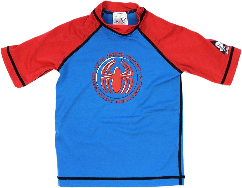 Small bluee Spiderman Surf Shirt - Spiderman Swim Shirt