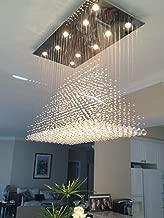 Modern Rain Drop Lighting Crystal Ball Fixture Pendant Chandelier LED Chandeliers 40