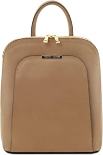 Tuscany Leather TL Bag - Saffiano Leather Backpack for Women - TL141631  (Caramel) fe44a32f1f353