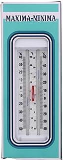 Garden Thermometer Maxima Minima White Durable Degrees Celsius Fahrenheit