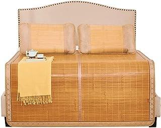 Letnia oddychająca mata bambusowa antypoślizgowa naturalna mata bambusowa mata chłodząca śpi mata dwustronna materac podwó...