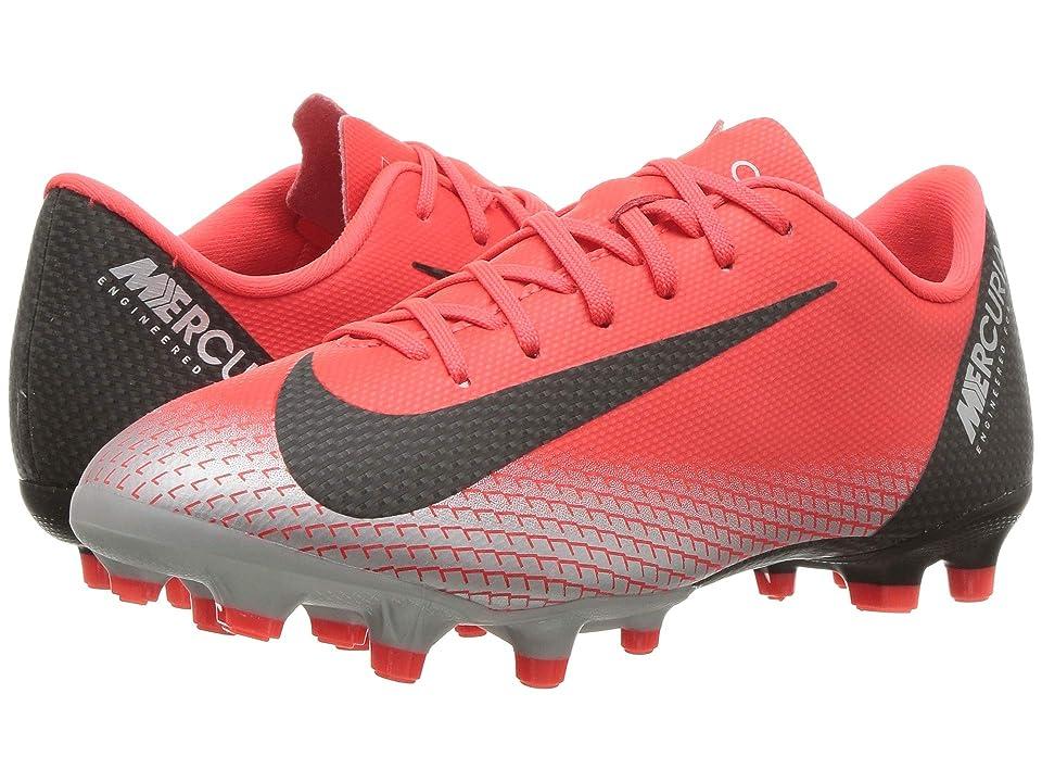 f4dd18fb7 Nike Kids Vapor 12 Academy CR7 FG/MG Soccer (Little Kid/Big Kid) (Bright  Crimson/Black/Chrome/Dark Grey) Kids Shoes - 6pm.com - imall.com