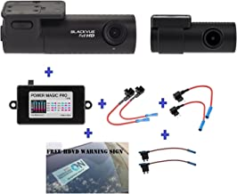 Blackvue DR590-2CH 32GB, Car Black Box/Car DVR Recorder, Full HD 1080p Front and Rear, 30FPS, G Sensor, 32GB SD Card + Power Magic Pro + Fuse taps + HDVD Warning Sign Included