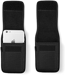 Nylon Men Hiking Cellphone Belt Loop Holster Pouch Case Compatible LG G Vista/Stylo 4 / X Venture / G6 Plus / V20 / G7 ThinQ / V35 ThinQ / V30S ThinQ / V30 (Fit with Battery Case on)