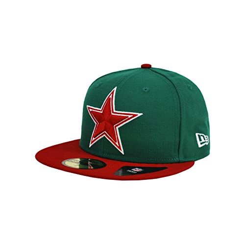 07779d3b4 New Era 59Fifty Hat Dallas Cowboys Mexico Flag Edition Green  Red Redux Fitted  Cap (