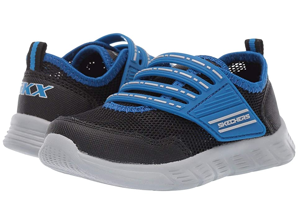 SKECHERS KIDS Comfy Flex (Toddler/Little Kid) (Black/Royal) Boy