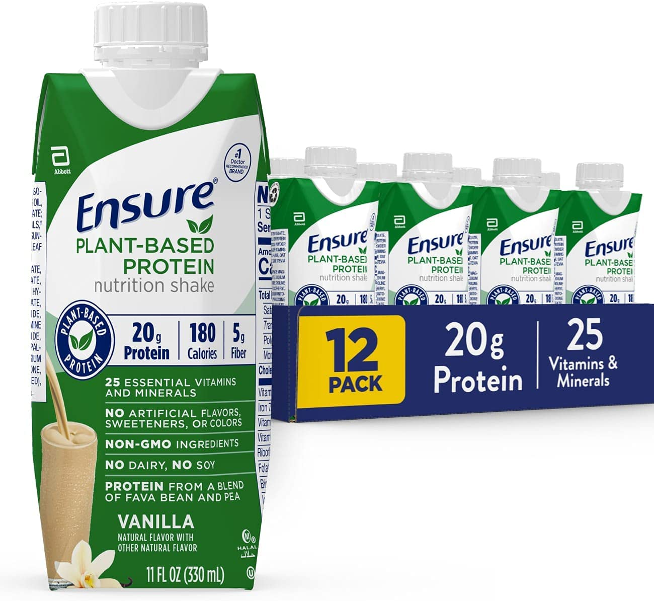 New product! New type Ensure 100% Plant-Based Vegan Protein Shakes with Nutrition Sacramento Mall 20g