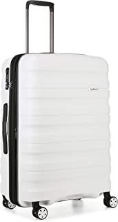 Antler Juno 2 4W Medium Roller Suitcase Hardside, White, 68cm