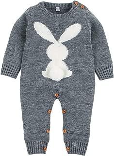URMAGIC Baby Girls Boys Clothes Sets Infant Little Peanut Long Sleeve Rompers Jumpsuit Cartoon Elephant Pants Hats Autumn Outfits