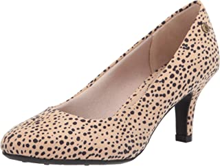 Life Stride Women's Parigi Pump, Natural Spotted Leopard, 6.5