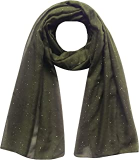 Lina & Lily Solid Shimmer Sparkle Glitters Sheer Maxi Shawl Scarf Hijab