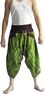 Siam Trendy Men's Japanese Style Pants One Size Green Jananese design